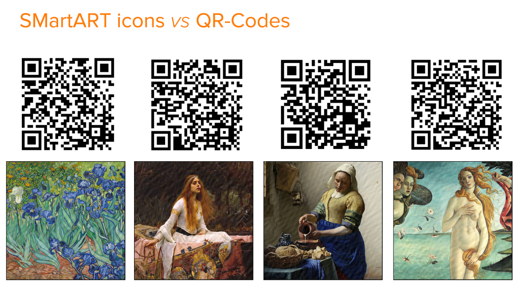 SMartART icons and QR-Codes